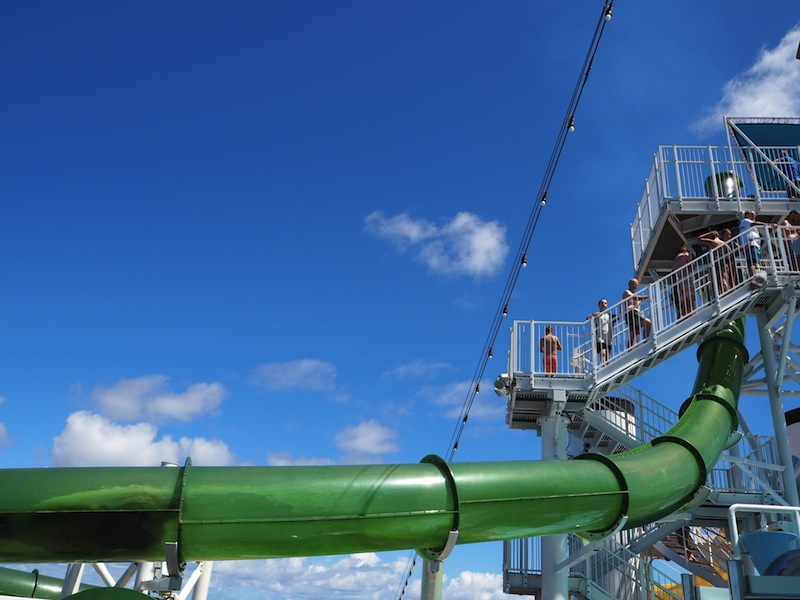 Green Thunder waterslide on Carnival Legend