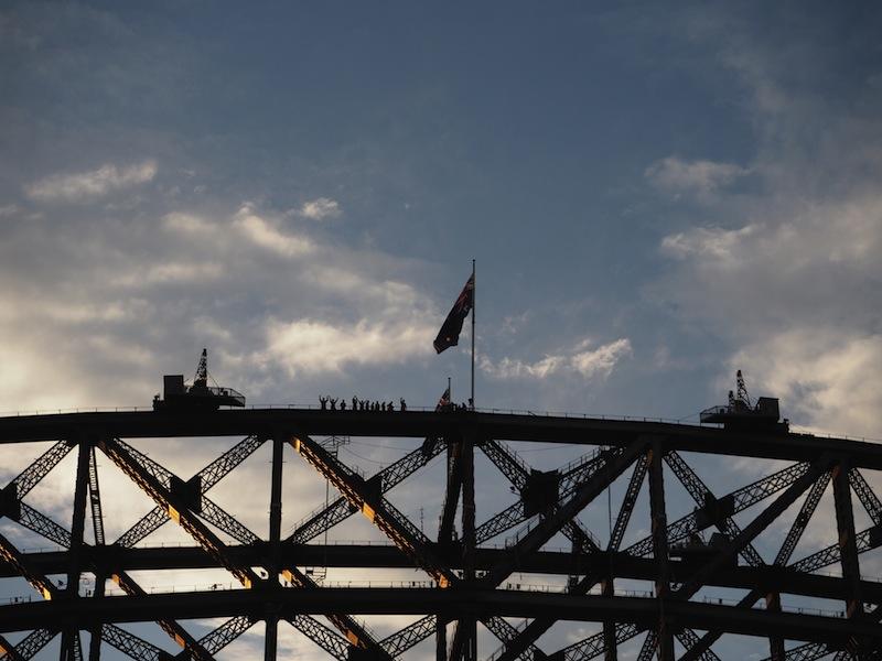 Climbers on Sydney Harbour Bridge