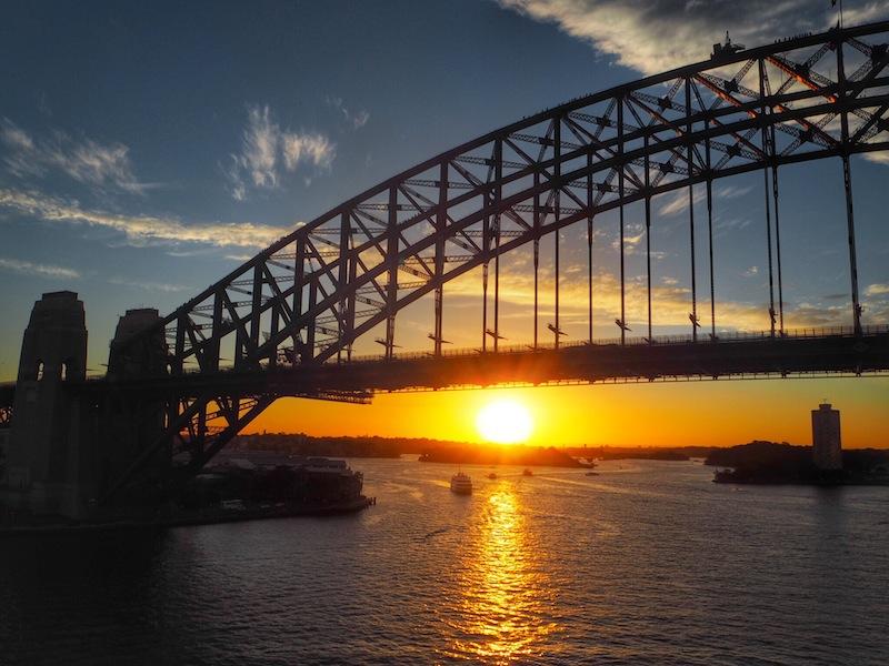 sunset under Sydney Harbour Bridge