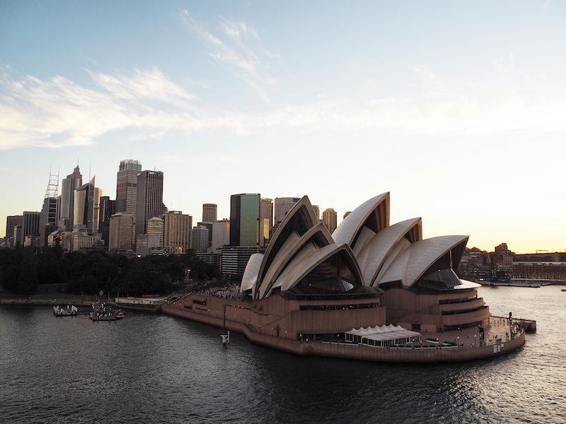 Cruising past Sydney Opera House