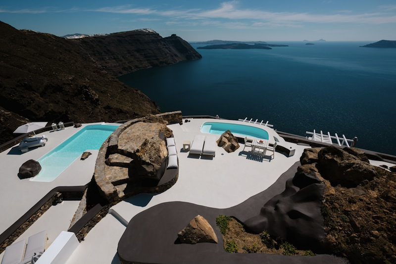 Santorini might be a good place to start! (image of Aenaon Hotel)