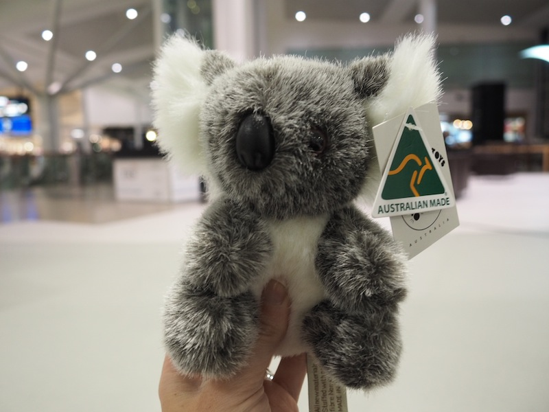 An Aussie souvenir I picked up for my new nephew in Sydney airport