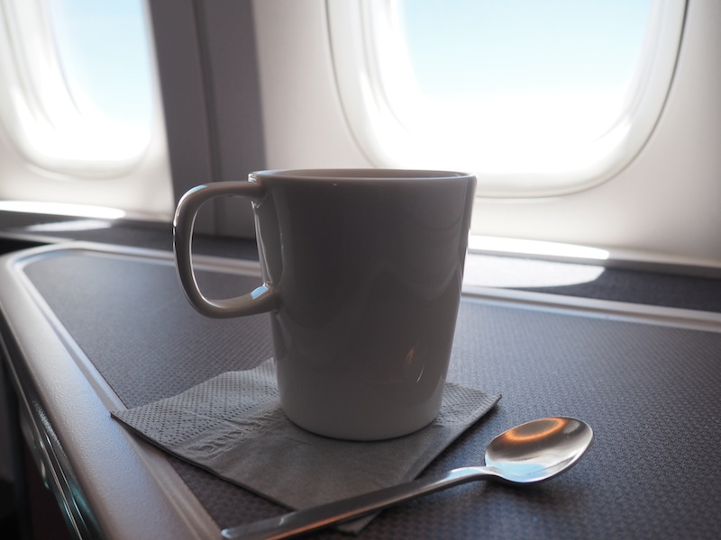 A comforting mug of tea in Business Class