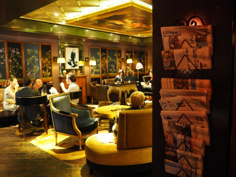 The St James Bar is modelled on the Parisian apartment of Coco Chanel