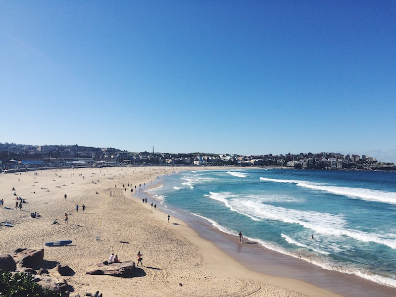 Bondi Beach in winter