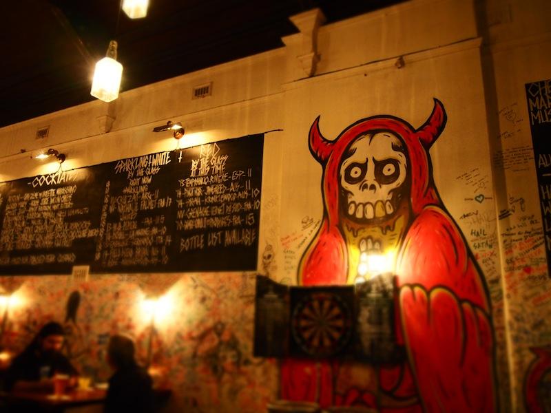 Dark decor of Mary's Newtown