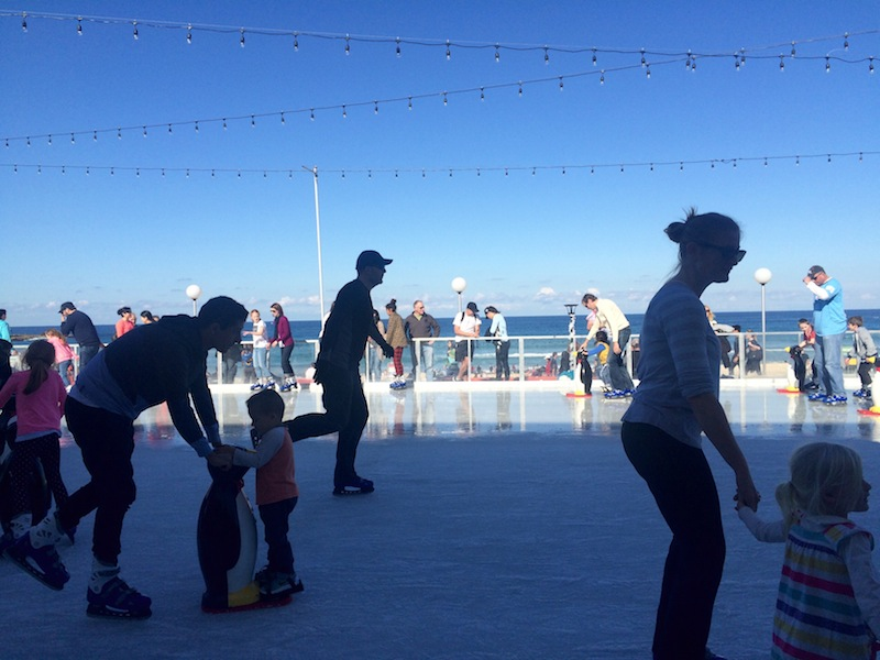 The sweet but bizarre Bondi Winter Ice Rink