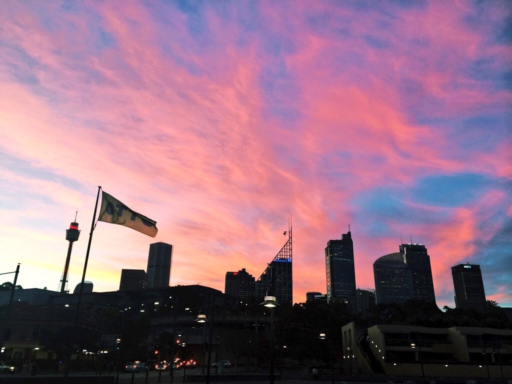 Another ugly Sydney sunset - I joke!