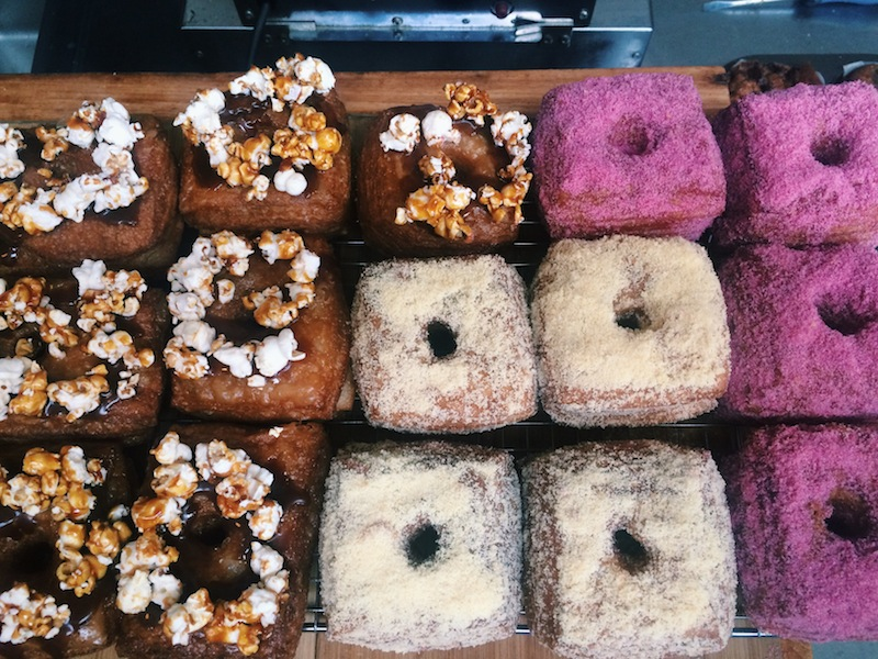 Colourful cronuts at Devon On Danks in Waterloo, Sydney