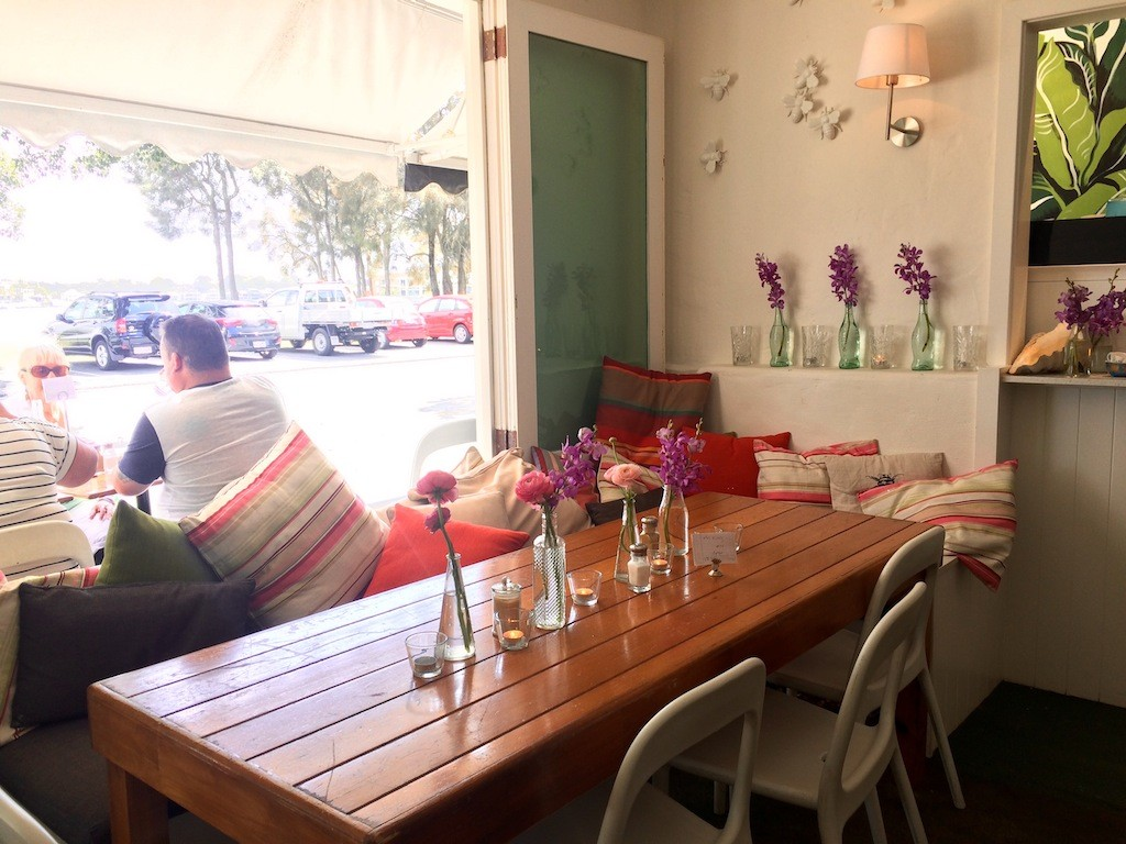 Cosy decor at Bumbles Cafe Budds Beach