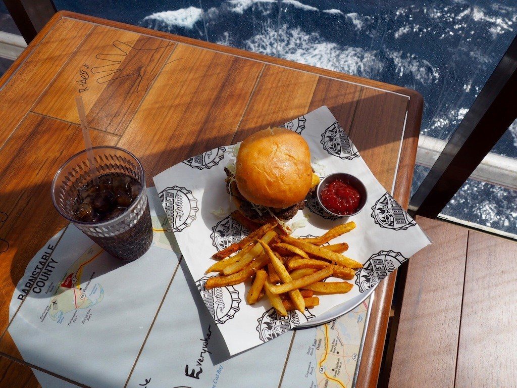Guy Fieri's great burgers served at sea