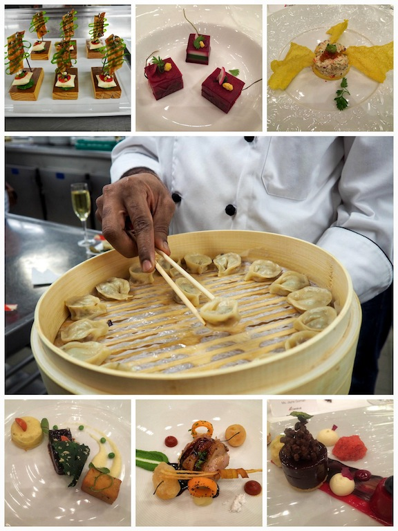 Just some of the courses at the Chef's Table