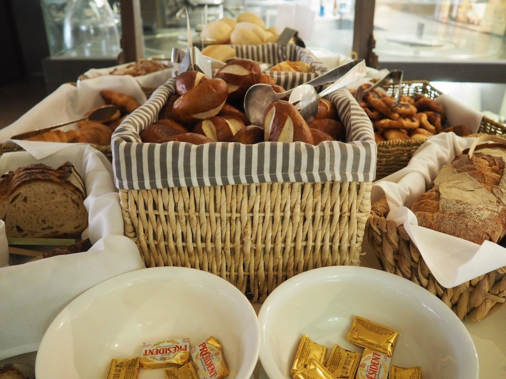 Pastries and President butter at the Thyme2 breakfast buffet