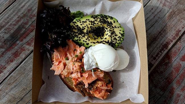 Smokes Salmon, Avocado and poached eggs served at Burleigh Social. Picture: Regi Varghese