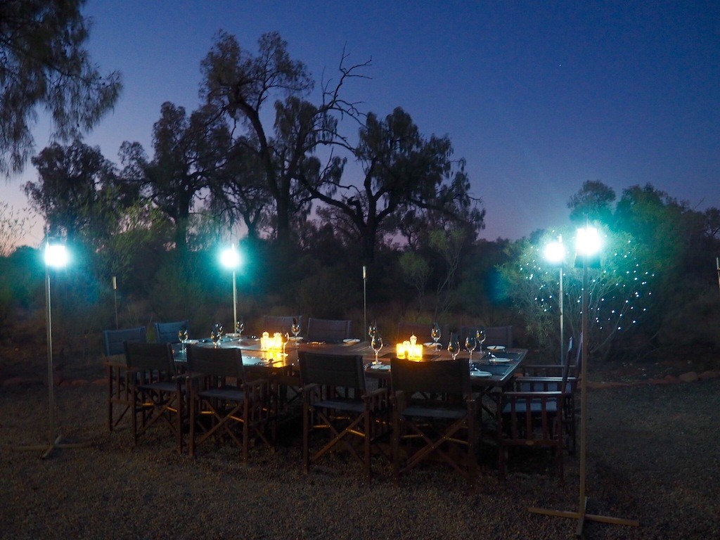 Communal dining under the stars