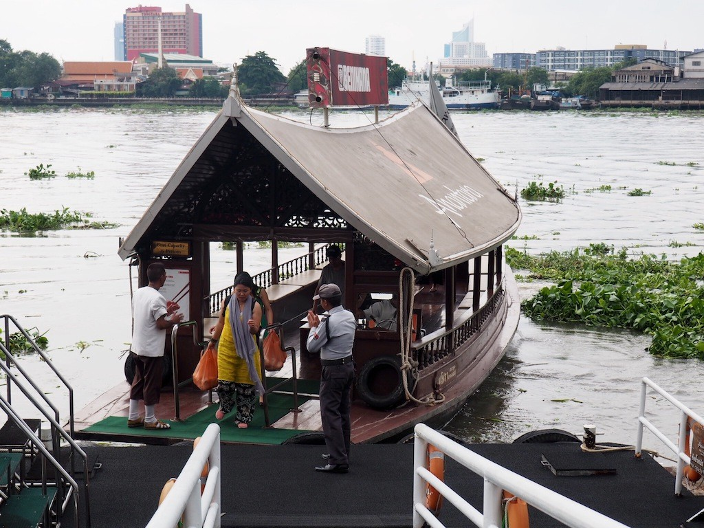 The hotel's free shuttle boat to Saphon pier.