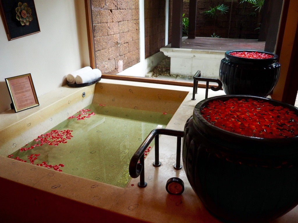 Beautiful facilities for couples at the on site spa