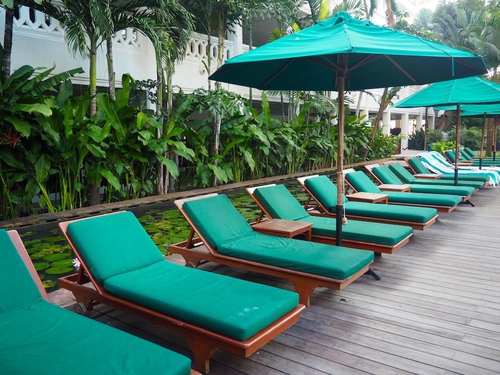 Chilling poolside at Anantara Riverside Bangkok Resort
