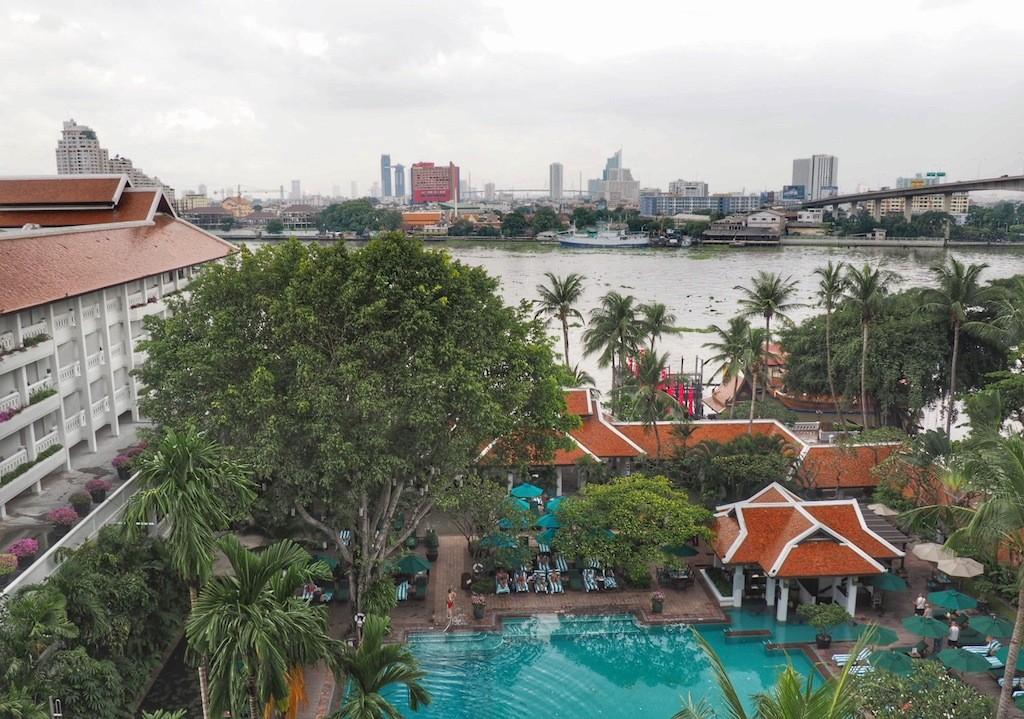 Anantara Riverside Bangkok Resort sits on the west banks of Chao Praya River