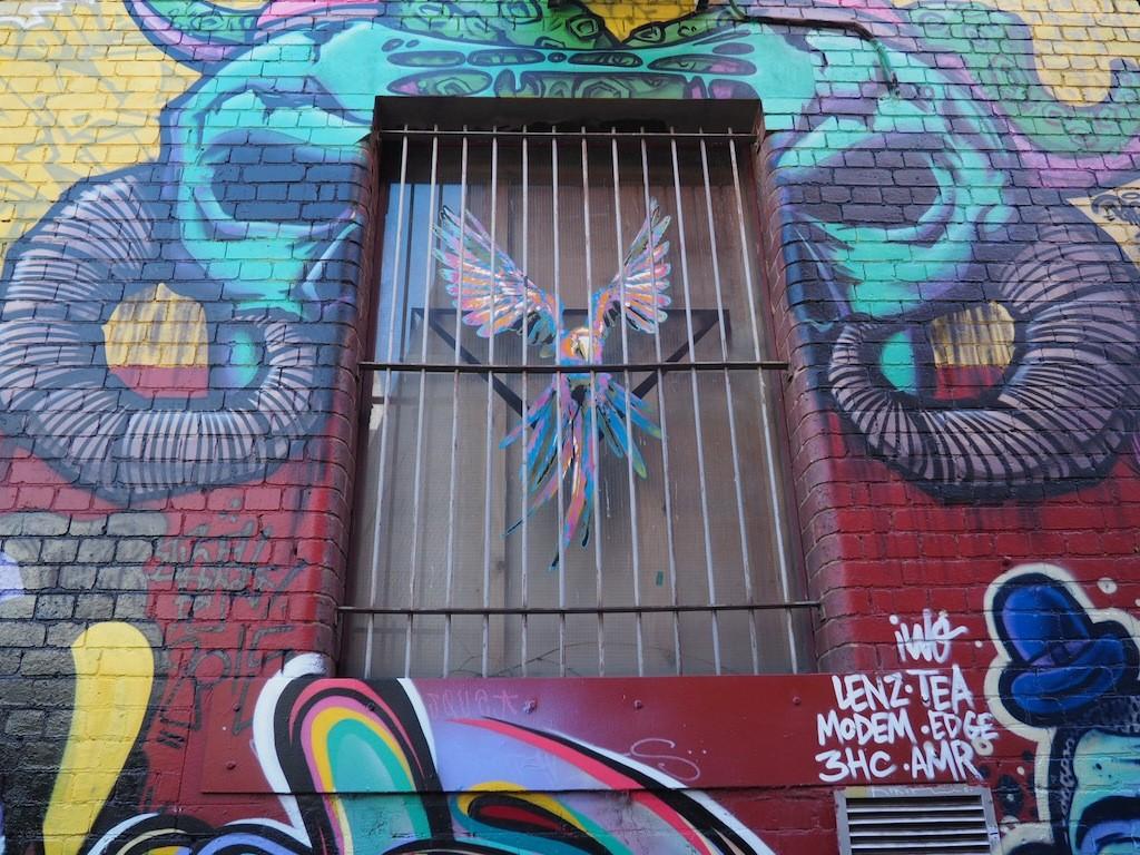 Some of the street art hidden in the laneways off Queen Victoria Market