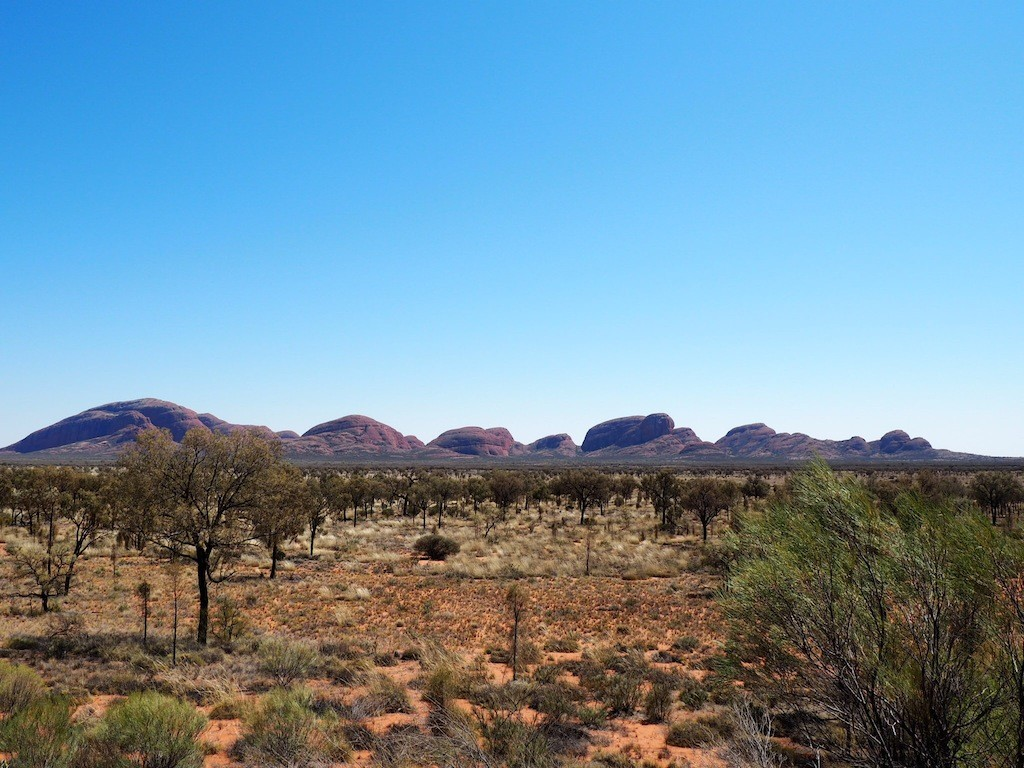 Kata Tjuta as seen from the Dune Viewing lookout