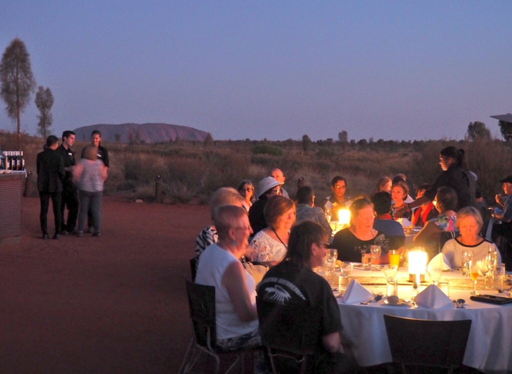 Dinner with Uluru as the backdrop at Sounds Of Silence
