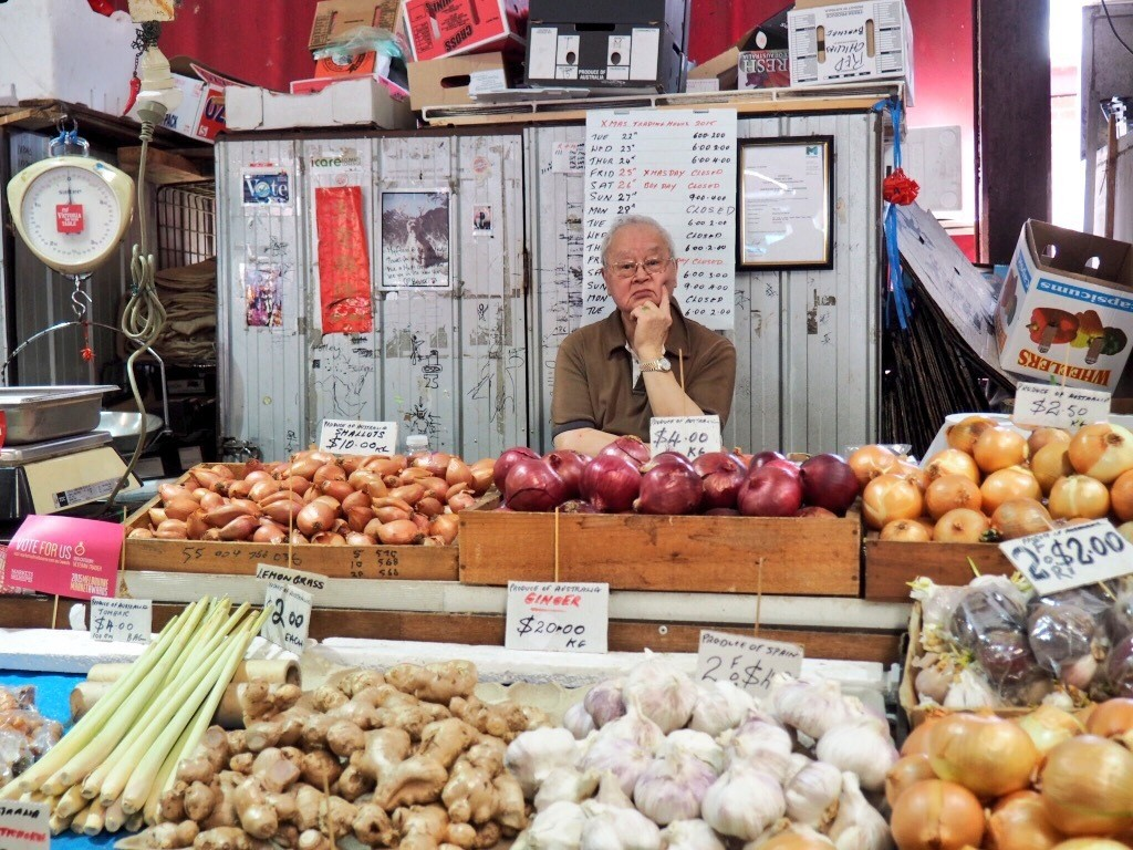 Food shopping with personality at Queen Victoria Market