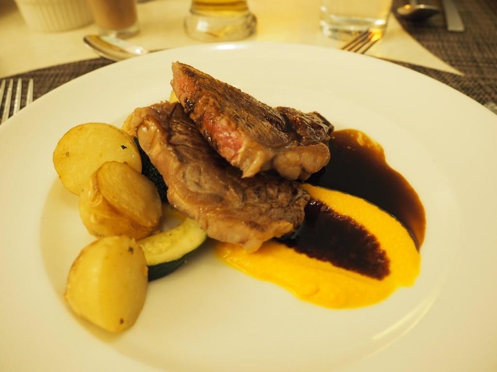 Steak from the Interactive Buffet at Ilkari