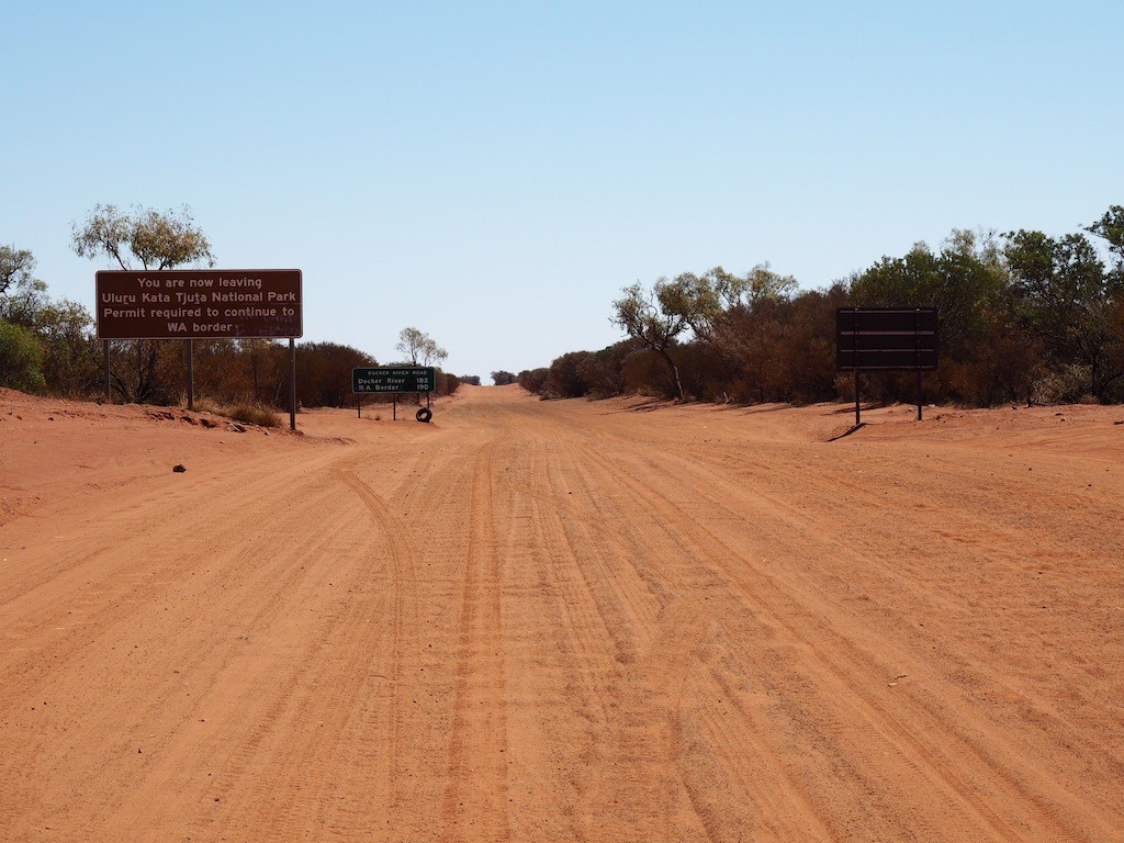 The road from Uluru to WA requires a permit