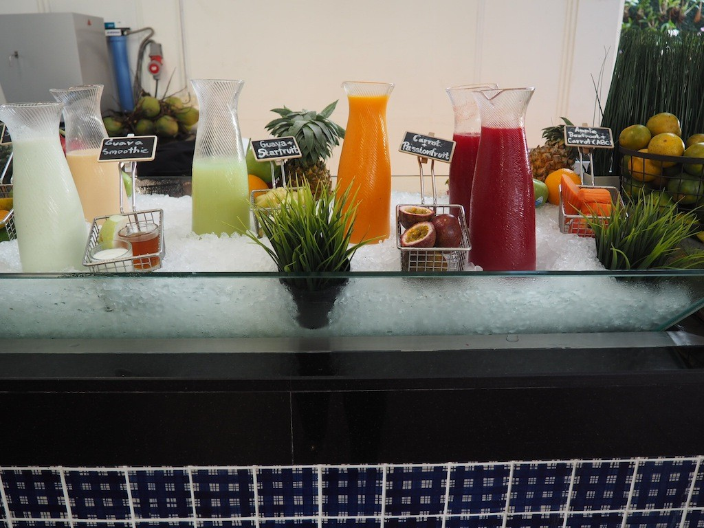 Smoothie bar at the breakfast buffet