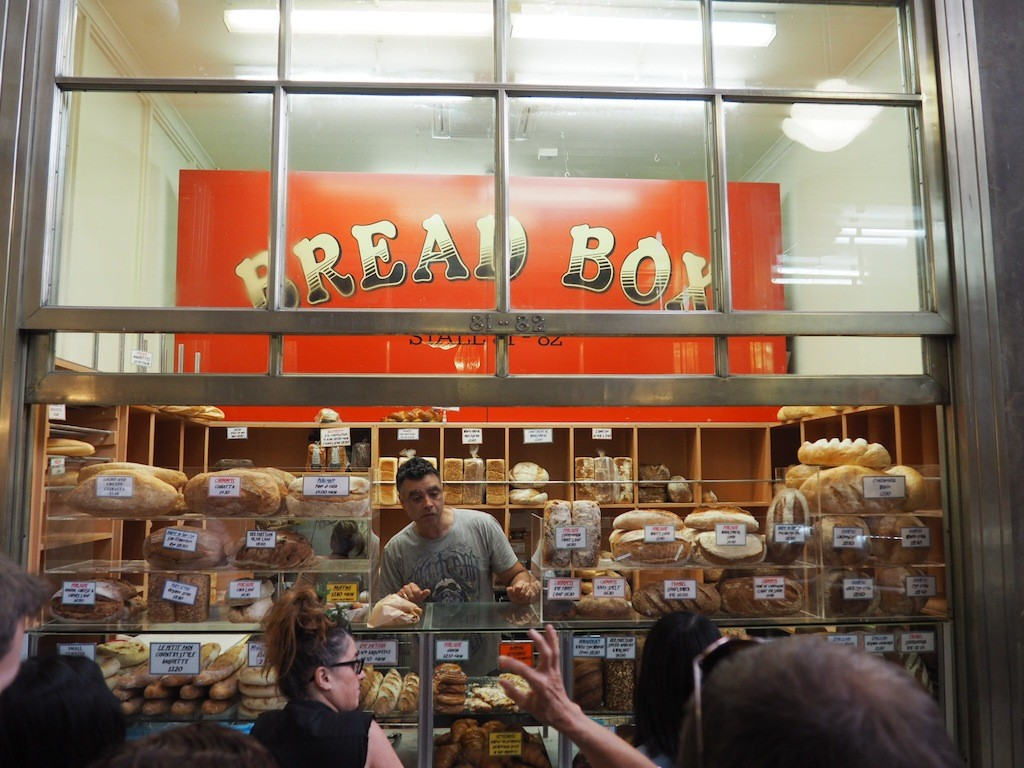 Customers get their orders in at the Bread Box