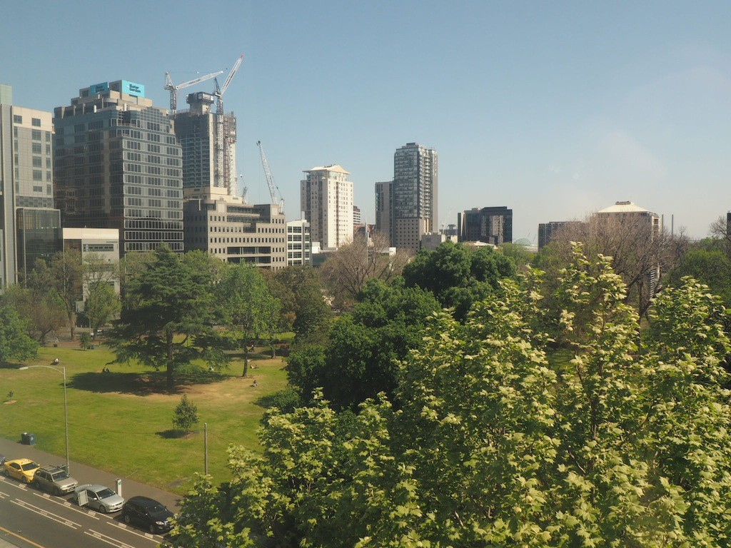 Pretty park views from Radisson on Flagstaff Gardens Melbourne