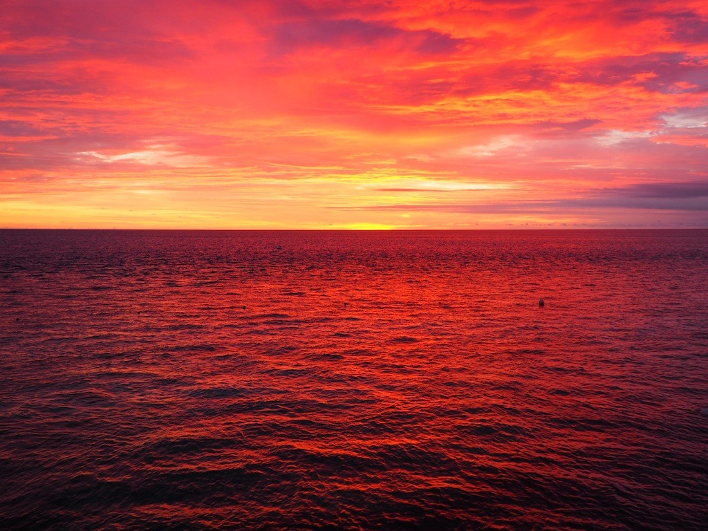 Sunrise over the Great Barrier Reef