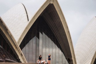 Girls dancing on the Opera House steps - a #SydneyMoment captured at the insta walk