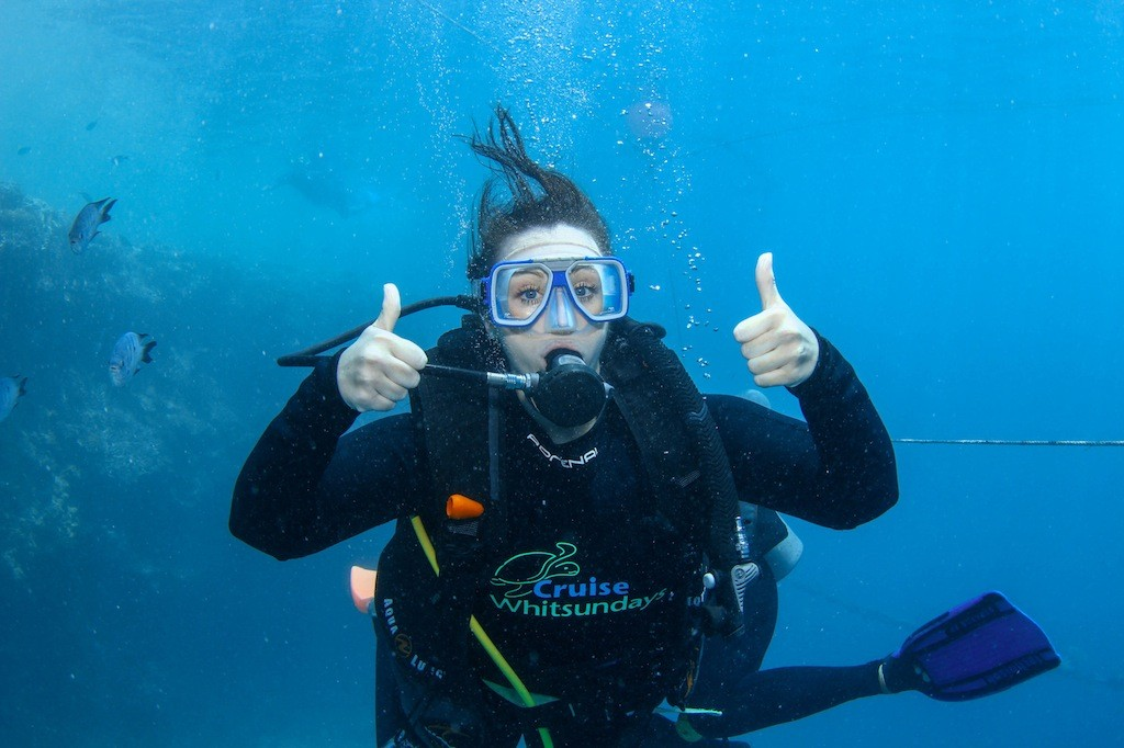 Me giving two thumbs up to SCUBA diving