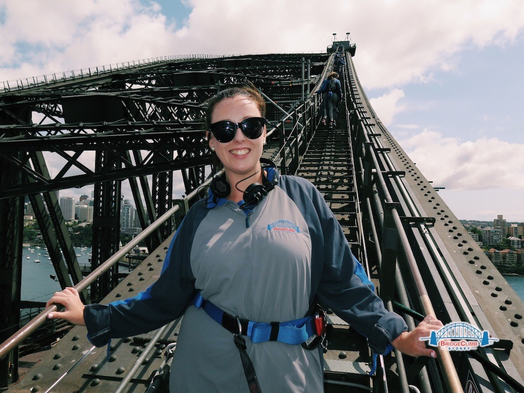 Going up - on route to the summit of Sydney Harbour Bridge