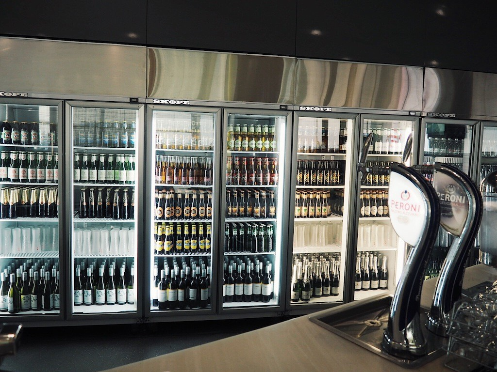 You'll typical find lots of booze in a Virgin Australia lounge!