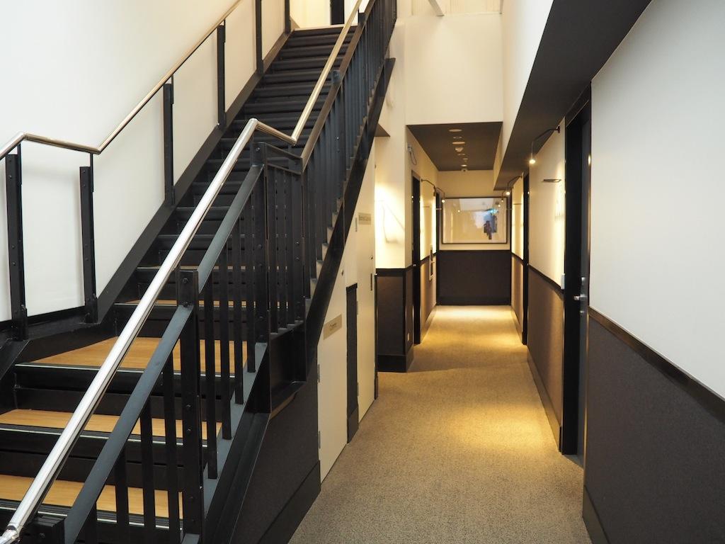 The hallways are elegant too.