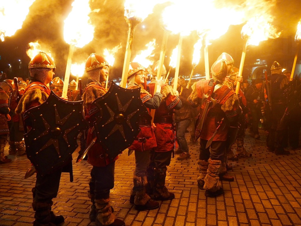 Despite the axes and fire the Torchlight Procession is a very family friendly event with Vikings of all ages taking part!