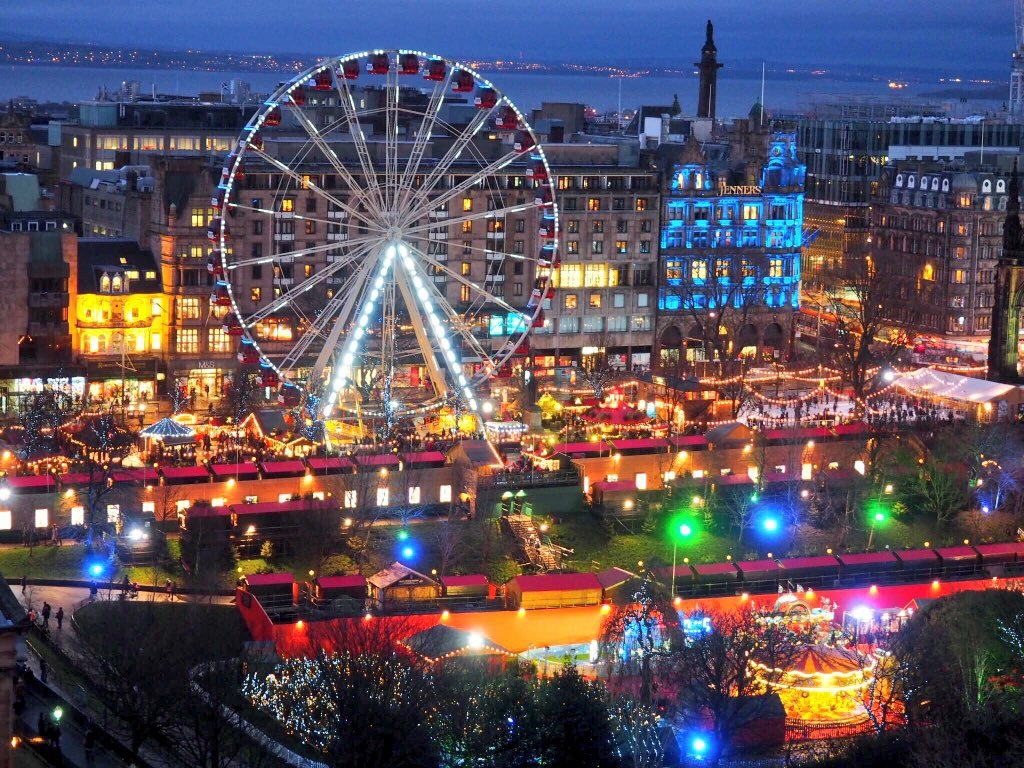 The streets of Edinburgh become one big party