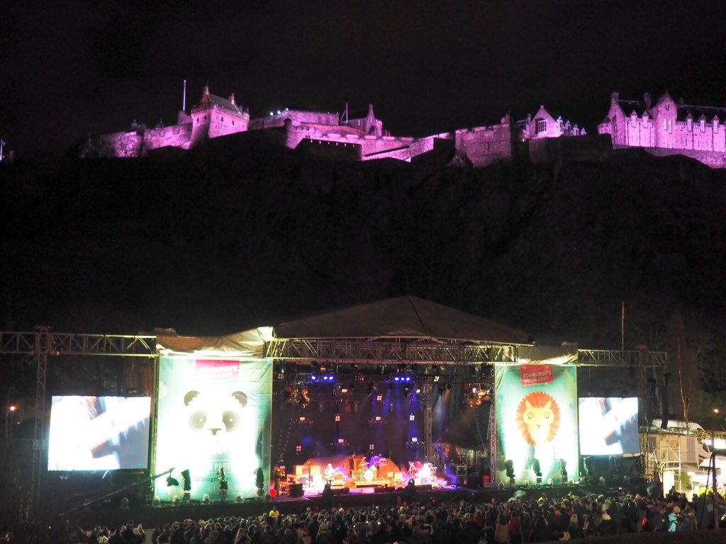 Edinburgh Castle floats above Concert In The Gardens