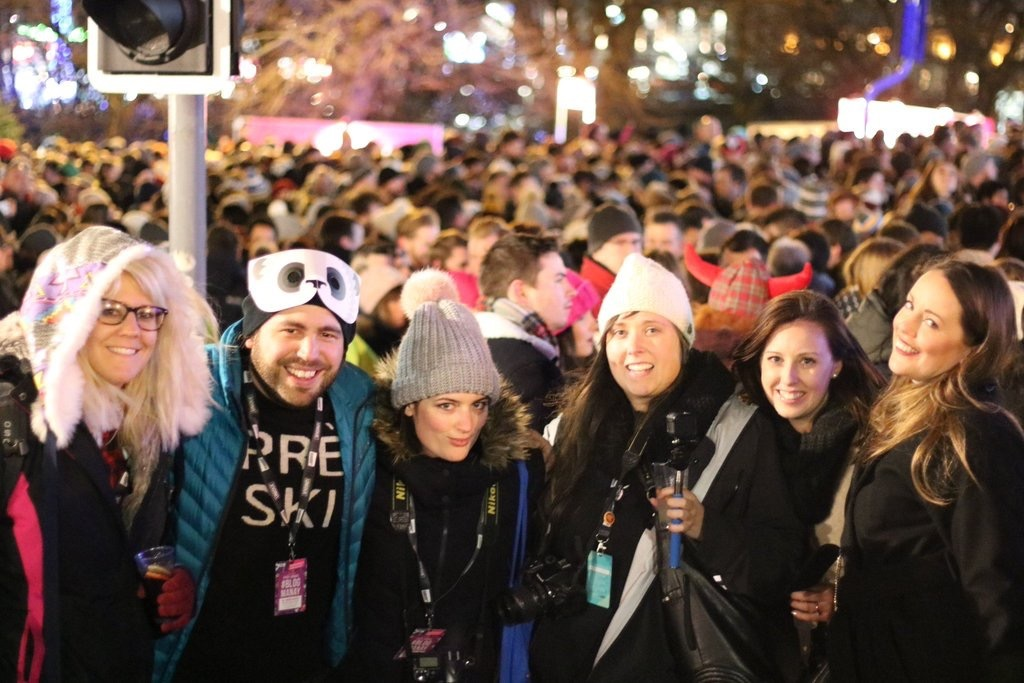 The #blogmanay crew at Guilty Pleasures. Photo thanks to Emily Luxton