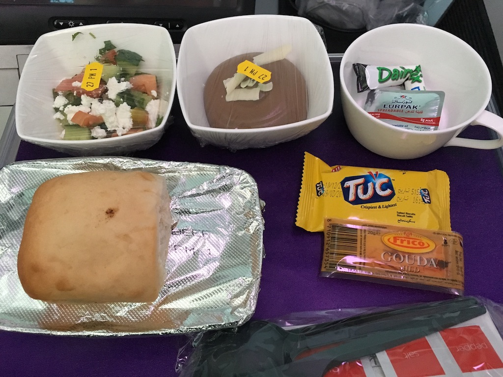 The meal presentation was not as good as some other airlines PE - but it all tasted rather good