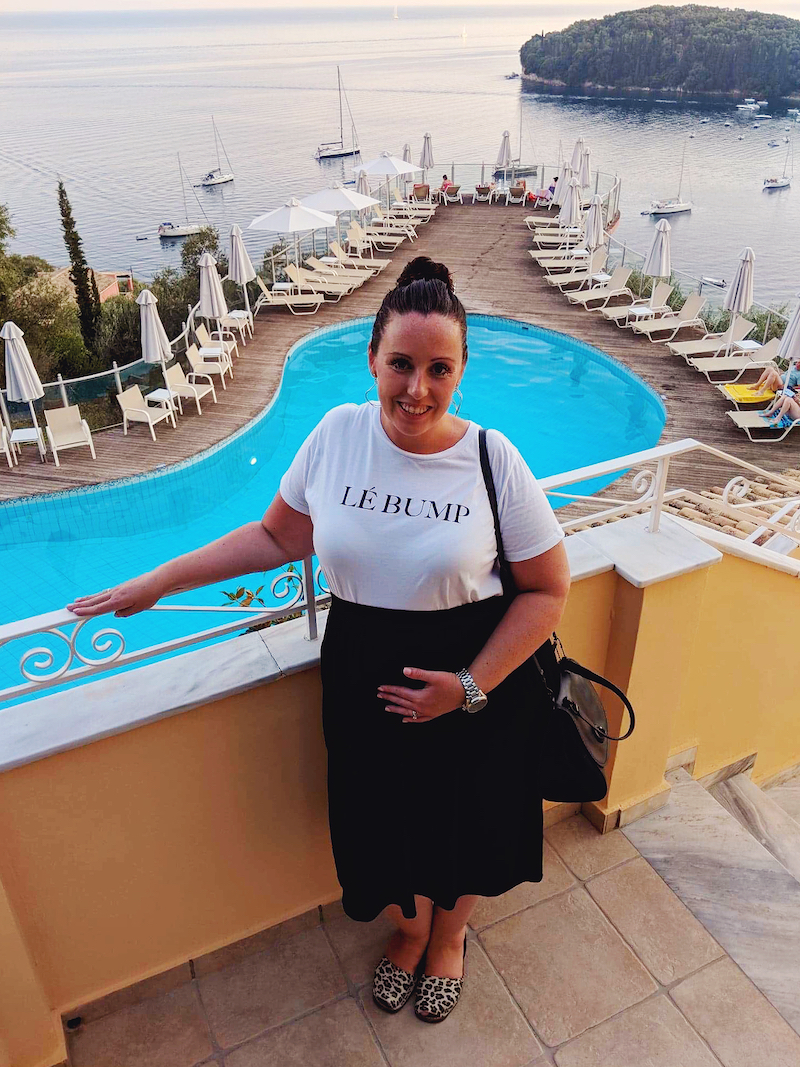 Babymoon in Corfu Greece