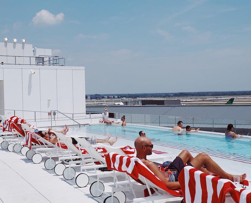 TWA Hotel JFK rooftop pool