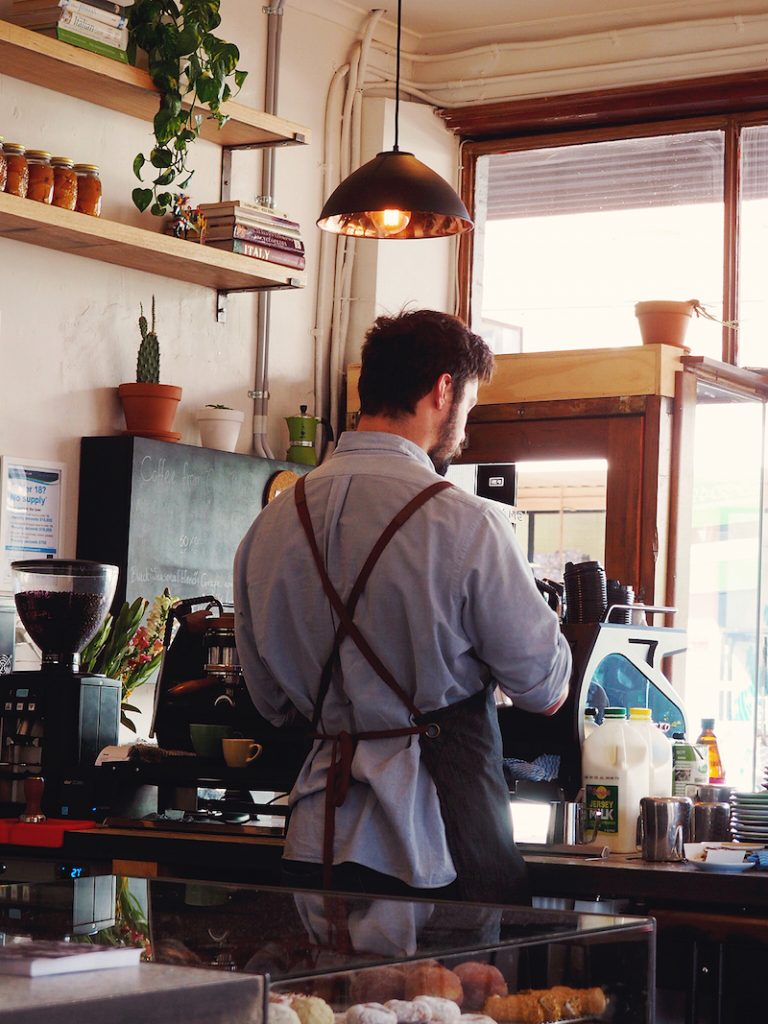 Coffee at Small Axe Kitchen Brunswick
