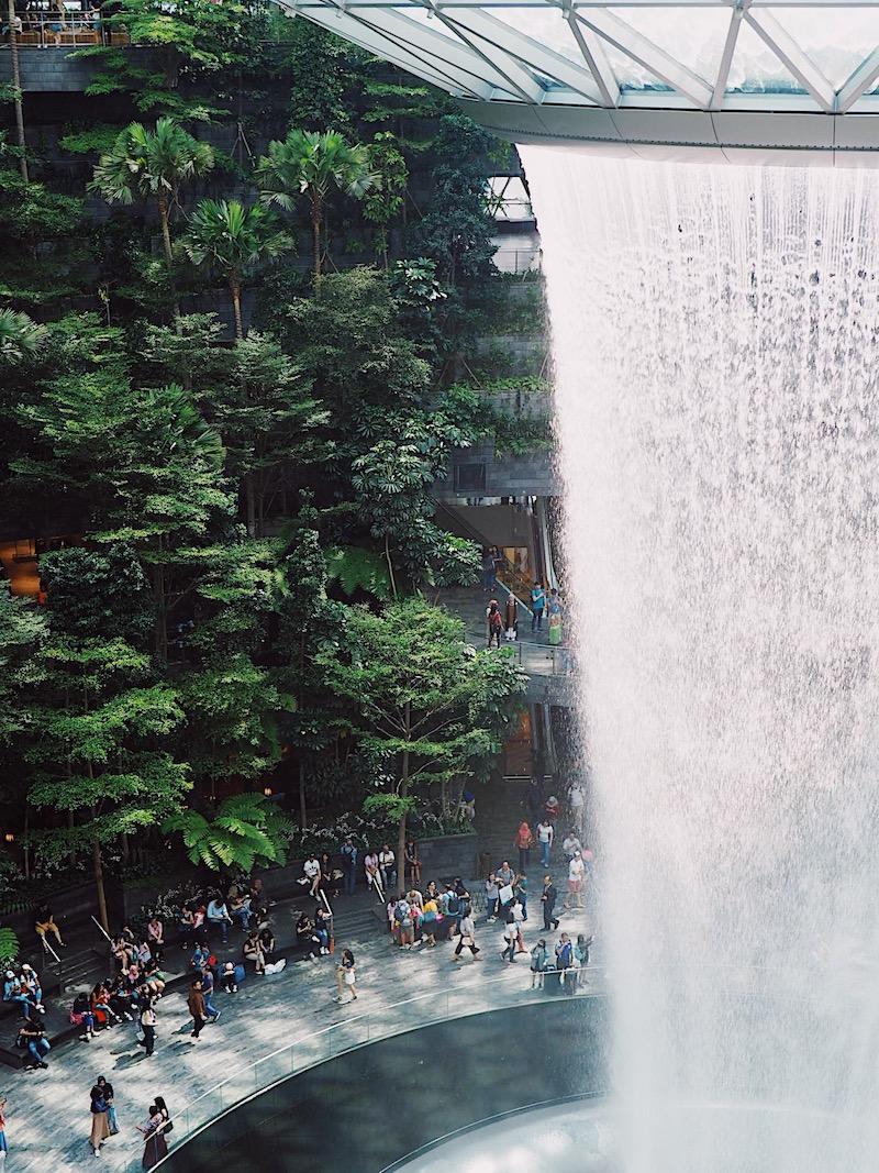 Jewel Changi Airport Waterfall