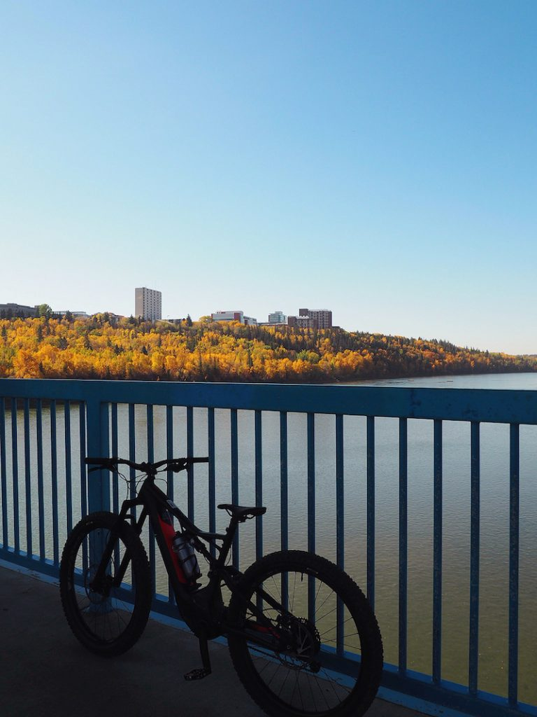 e-bike tour of Edmonton urban parkland