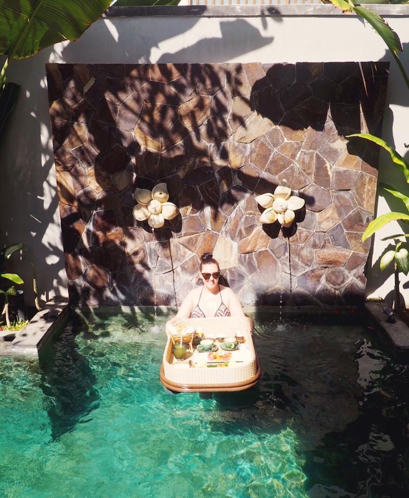 Floating breakfast in Bali