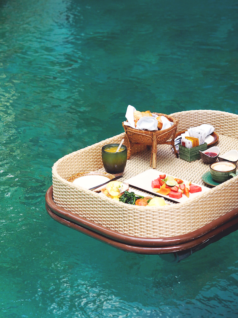 Our Floating Breakfast in Bali 'fail'